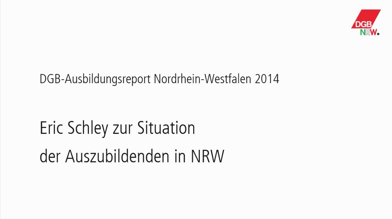 Video mit Bezirksjugendsekretär Eric Schley zum DGB-Ausbildungsreport NRW