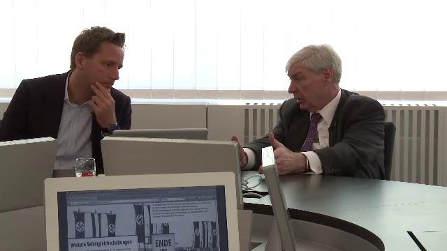 Michael Sommer und Prof. Martin Lücke im Videointerview über die Zerschlagung der Gewerkschaften am 2. Mai 1933 und das Gedenken daran.