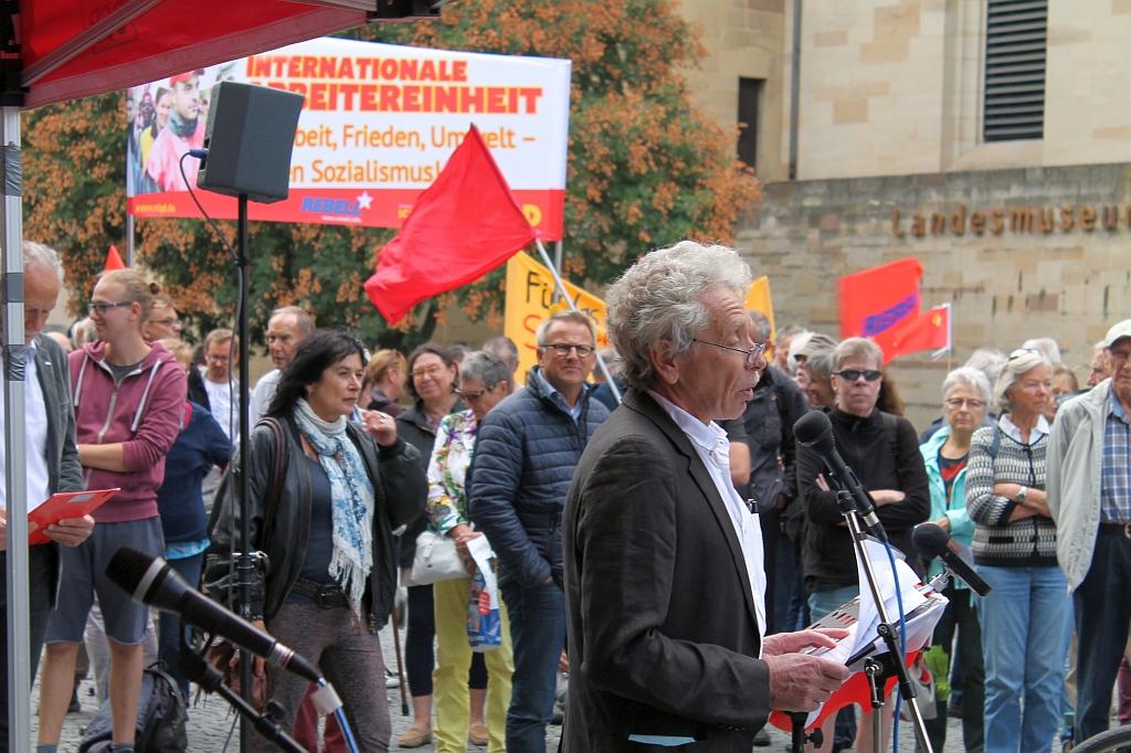 Antikriegstag 2018 Stuttgart - Begrüßung von Philipp Vollrath