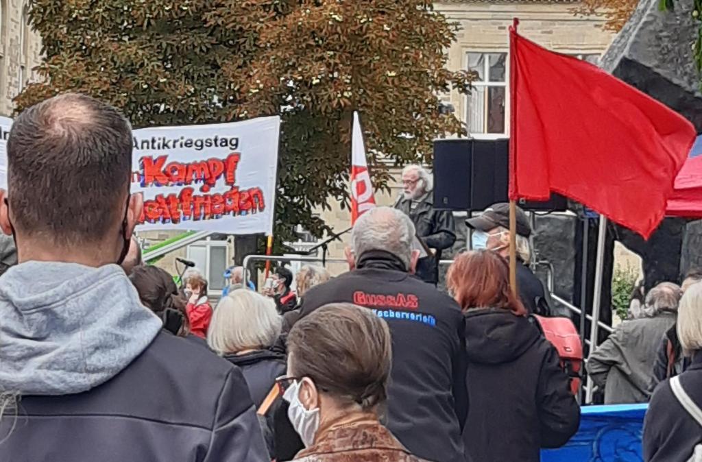 Beitrag von Dieter Lachenmayer Antikriegstag 2020 in Stuttgart