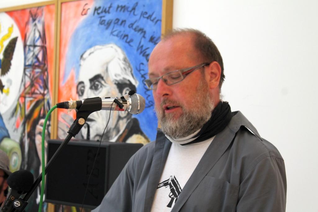 Ausstellungseröffnung Rede Roland Blach (DFG-VK)