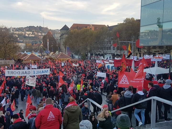Fairwandel geht anders! - IGM-Kundgebung in Stuttgart