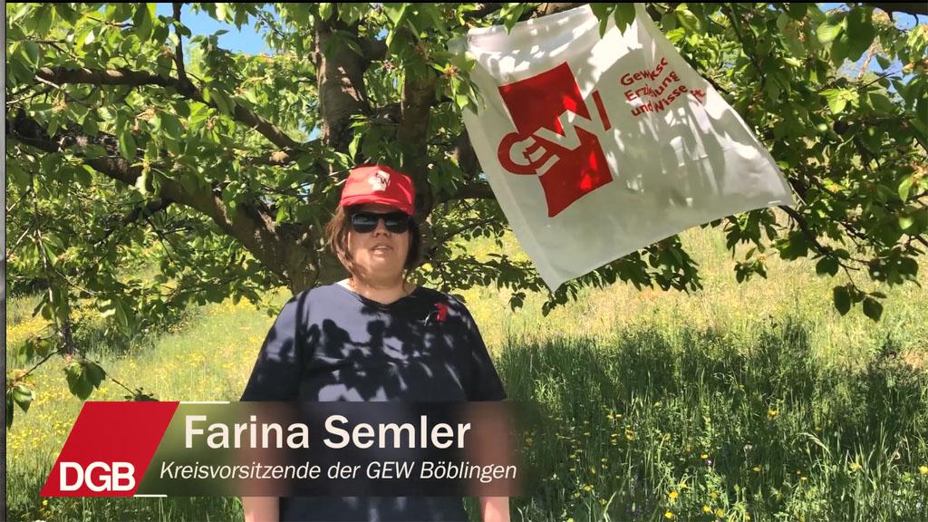 Gedanken zum 1. Mai von Farina Semler, Kreisvorsitzende der GEW Böblingen
