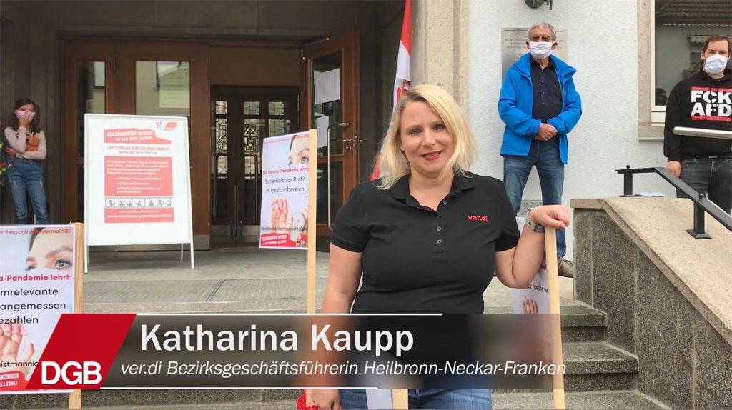 Katharina Kaupp, ver.di Bezirksgeschäftsführerin Heilbronn-Neckar-Franken zum 1. Mai