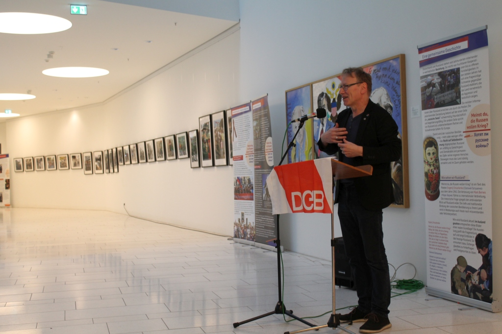 Rede Jörg Munder zur Ausstellung Meinst du, die Russen wollen Krieg