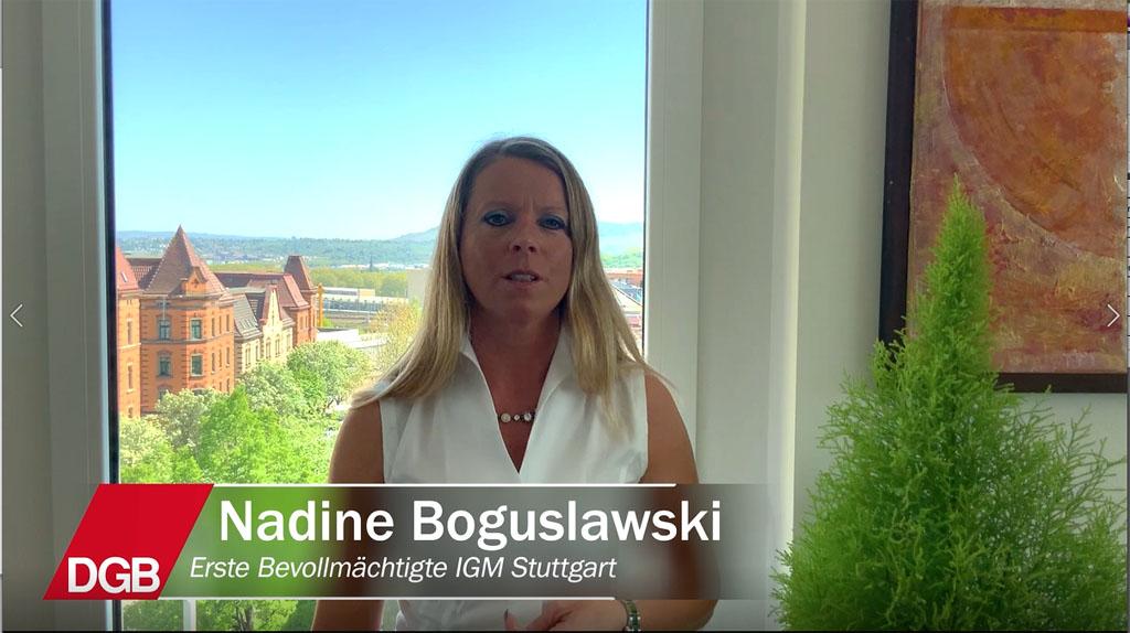 Nadine Boguslawski, IGM Stuttgart zum 1. Mai