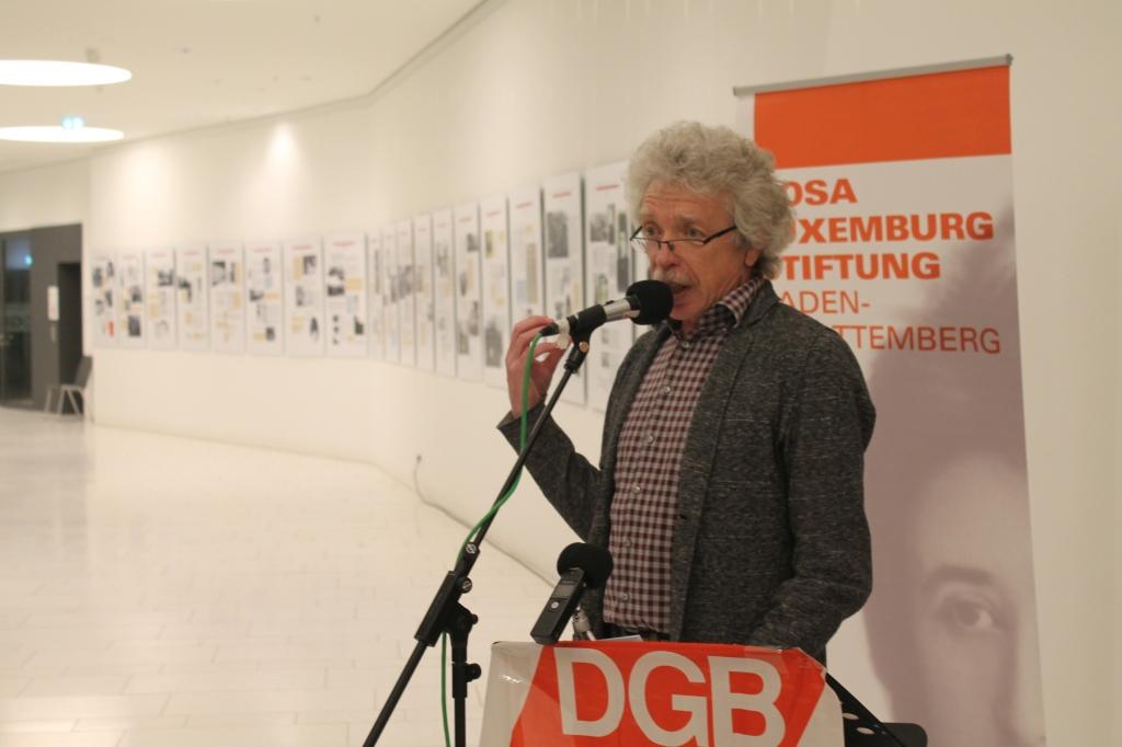 Begrüßung zur Ausstellung über Rosa Luxemburg